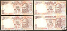 10 Rs Gandhi Series Signature Set from Rangarajan to Rajan(D-46 To D-102)@Unc Co