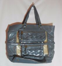 Gryson for Target Blue Gray Large Shoulder Tote Bag Clear Shopping Bag