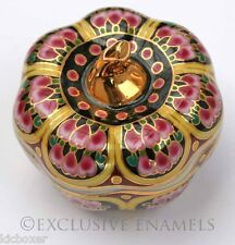 Pumpkin Shaped Oriental Eastern Design Lidded China Trinket Box