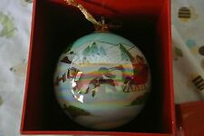 Vintage J.C. PENNY CHRISTMAS COLLECTIBLES REVERSE PAINTING GLASS TREE ORNAMENT