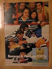 1972 Print Ad Benson & Hedges Cigarettes ~ Hockey Players Brawl