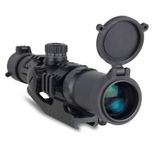 1.5-4X30 Tactical Rifle Scope Green/Red/Blue Illumination Mil Dot Reticle