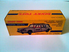 Boîte copie repro Dinky Toys 556 ID 19 citroen ambulance ( reproduction box vide
