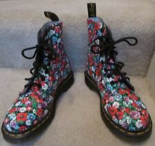 Dr Martens Ladies Pascal Floral Print Boots Leather Size 5 NWT New