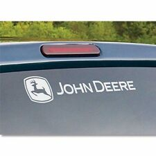 john deere dear tractor truck sticker decal rear window logo windshield white