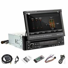 "Dash 7"" Car 1 DIN DVD Player Touch Screen RDS Radio Stereo USB SD Slide Detach"