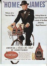 POST CARD WITH AN ADVERTISEMENT FROM A MAGAZINE SCHENLEY ROYAL RESERVE WHISKEY