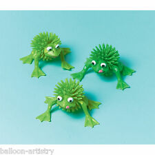 12 Green Woolly Frogs Birthday Party Supplies Loot Favours Gifts Toys