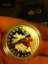 2015 Canada 1/2 Oz Silver Songbird The Northern Cardinal with BOX & COA