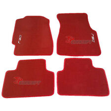 Fit 92-95 Honda Civic EJ EG EH EK Red Nylon Floor Mats Carpets 4pcs Front Rear