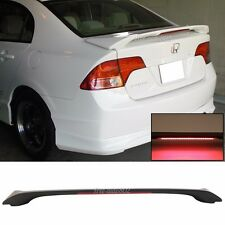Fit 2006-2011 HONDA CIVIC SEDAN OE TRUNK SPOILER WING ABS LED BRAKE LIGHT 4DR