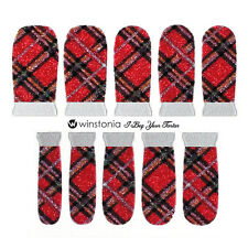 Winstonia I Beg Your Tartan Plaid Nail Wraps Vinyl Strip  Manicure Sticker Cute