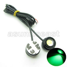 2 x Green DC12V 3W Eagle Eye Car LED Daytime Running DRL Light Tail With Tape