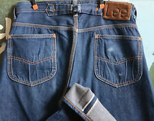 LEE 101B 1936 COWBOY SELVEDGE JEANS MADE IN JAPAN SIZE 32x33 HAIR ON HIDE LABEL