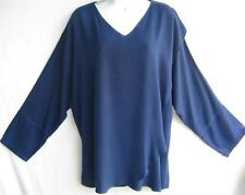 TIENDA HO~BLUEBERRY~MOROCCAN COTTON~TISHKA wrap TOP~Free/OS (M L XL 1X 2X?)