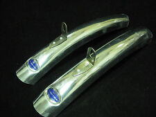 Vintage Bluemels Short mudguards Bicycle fenders pair NOS made England ALLOY