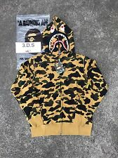 BAPE Yellow Camo PONR Shark Full-Zip Hoodie *Size XL* 100% AUTHENTIC