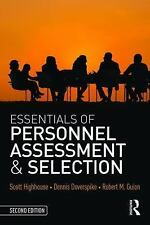 Essentials of Personnel Assessment and Selection by Robert M. Guion, Scott...
