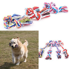1x Puppy Dog Chew Knot Play Game Toy Pet Handmade Cotton Braid Rope Random 18cm