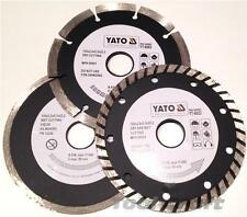 Yato professional diamond disc blade set 3 pcs 125 mm turbo segment tile cutter