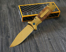 Gold Portable Outdoor Survival Tactical Knife Camping Hunting Folding Knives New