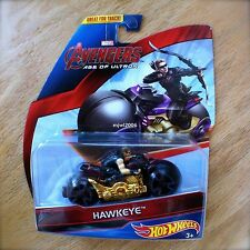 Hot Wheels MARVEL Avengers HAWKEYE Diecast Motorbike AGE OF ULTRON MOTOS Barton