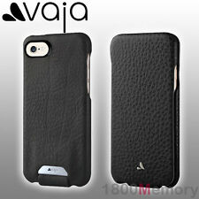 GENUINE Vaja Top Flip Floater Premium Leather Case Black for Apple iPhone 7 4.7""
