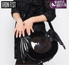 Iron Fist Night Stalker  Black Bat Wing Round Tote Bag