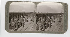WWI Stereoview (Realistic)-S African Rifles entrain at Cape Town to re-volunteer