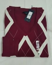 NWT TOMMY HILFIGER WOMEN'S Argyle Long Sleeve Cotton Sweater Sz:LARGE   $64.99