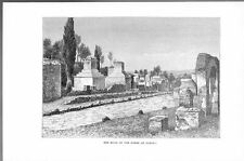 ROMAN ROAD OF THE TOMBS AT POMPEII ANTIQUE ART PRINT