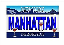 Novelty Number Plate, Manhattan Fun American New York Licence Plate  NYC