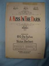 A Kiss In The Dark Sheet Music Vintage 1922 Voice Piano B G De Sylva Herbert (O)