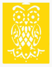 "8"" OWL STENCIL STENCILS BRANCH TEMPLATE BIRD BIRDS CRAFT PAINT ART TEMPLATES NEW"