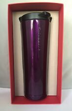 Starbucks Purple Stainless Steel Tumbler 20 oz 2015 NWT! Red Box!