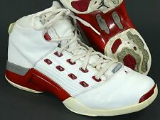 Jordan XVII Sz 13 White/Red - air original 2002 17 high xvi xviii xix vintage og