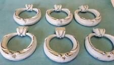 """SALE Lot of 6 Vintage Ring Pulls Cottage Chic Shabby Distressed Drawer Knob 2"""""""
