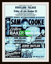 "SAM COOKE, LAVERN BAKER- MINI-POSTER PRINT 7"" x 5"""