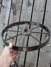 Industrial Age Steampunk Cast Iron Wheel re purpose as Kitchen Utensil Hanger?