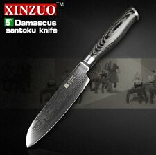 "XINZUO 5"" Japanese chef knfie 73 layers VG10 Damascus steel kitchen knives chef"