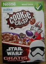 STAR WARS: THE FORCE AWAKENS 3 SLOVENIA EMPTY CEREAL BOXES NESTLE
