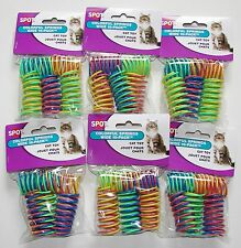 6-Pack Ethical Pet Wide Colorful Springs Cat Toys 10 Toys per Pack * NEW