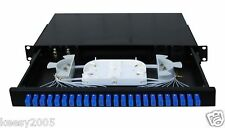 Fiber Optic Patch Panel,Enclosure,1U,Rackmount,24 Port Loaded SC Simplex(STOCK)