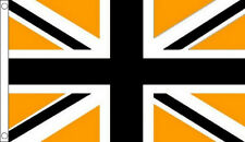 5' x 3' Black and Gold Union Jack Flag Sport Team Club Banner