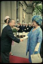 536077 Premier Louis Robichaud Greets Queen Mother New Brunswick A4 Photo Print