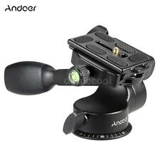 360°Tripod Quick Release QR Plate Fluid Ball Head +Rocker Arm for Manfrotto 8XK5