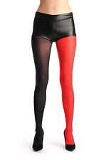 One Leg Red and One Leg Black (T000373)