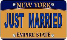 Novelty Number Plate ,Just Married  Fun American New York Licence Plate