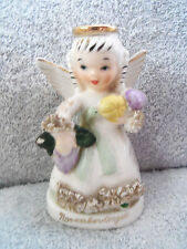 VINTAGE~ NOVEMBER ANGEL FIGURINE~NAPCO JAPAN C-1371 ~BIRTHDAY ANGEL~