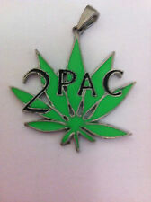 TUPAC Green Leaf Logo 2Pac Pendant Jewelry NEW OFFICIAL MERCHANDISE Rare
